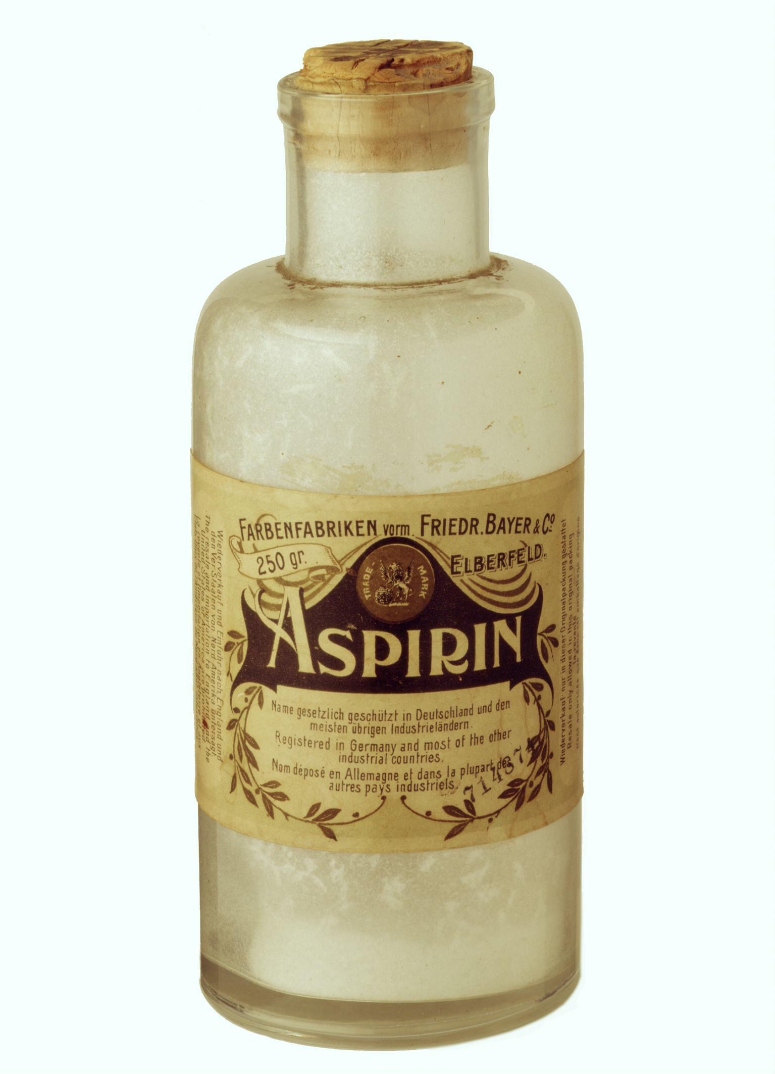 An original Bayer aspirin bottle