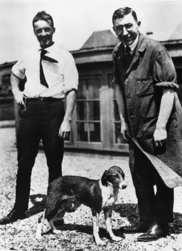 Banting and Best with Marjorie, the test dog