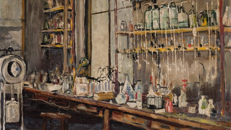 Banting's painting of his lab in Toronto
