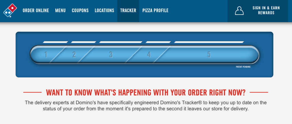 Dominos tracker