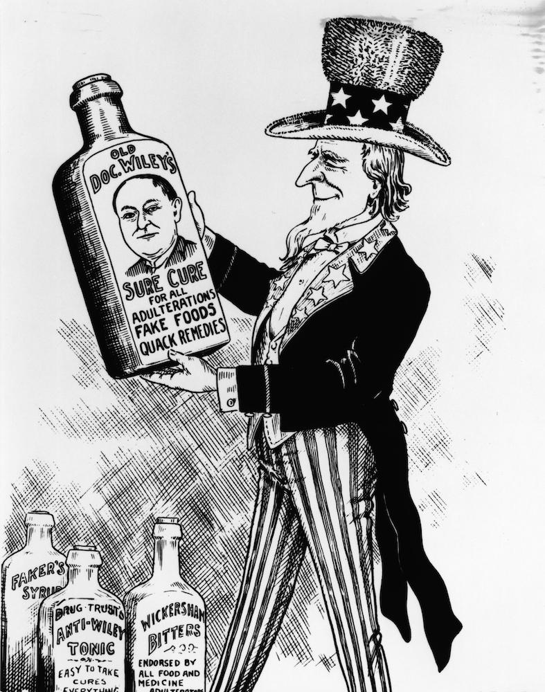 political cartoon Bureau of Chemistry Chief Chemist Harvey Wiley