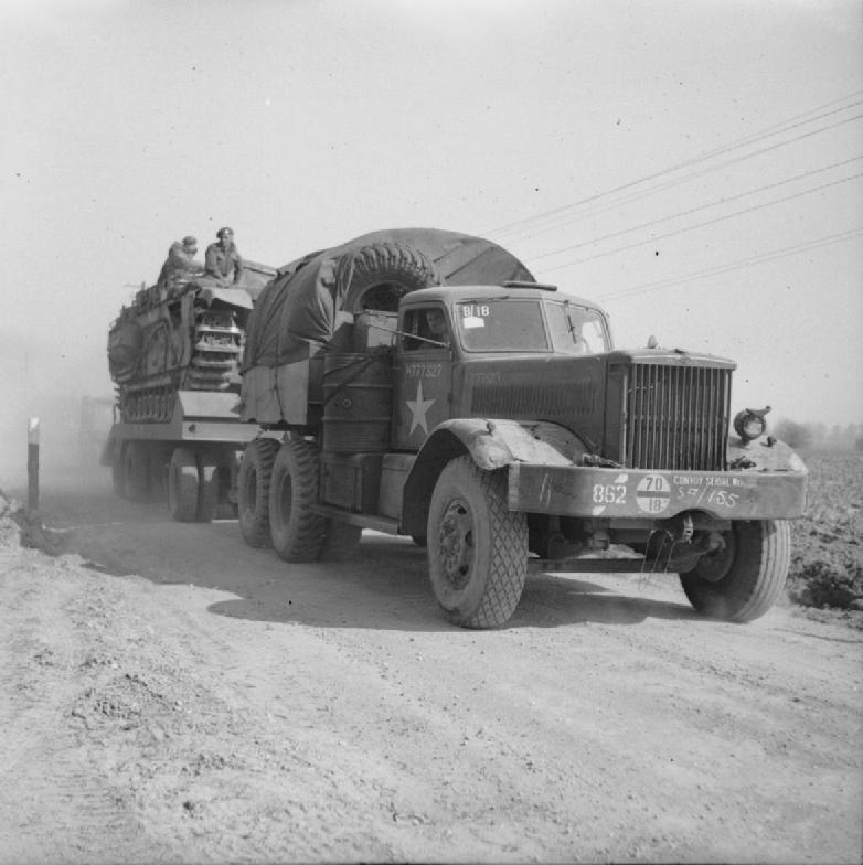 Diamond T tank transporter
