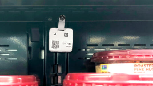 B2 Sensor mounted in a grocery refrigeration case
